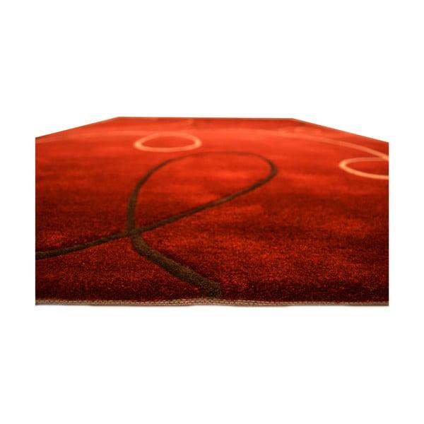 Dywan ręcznie tkany Pluto, 140x200 cm, czerwony