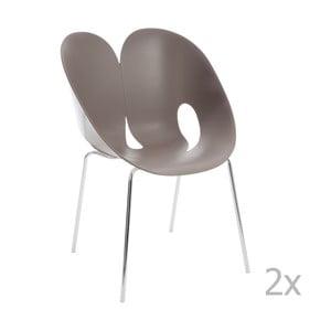 Zestaw 2 szarych krzeseł J-Line Jens