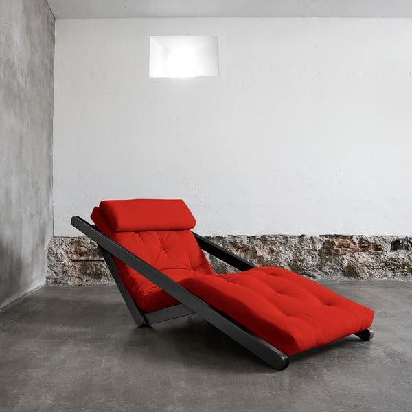 Szezlong Karup Figo, Wenge/Red, 70 cm