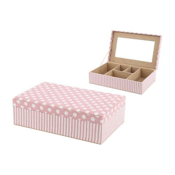 Pudełko na biżuterię Pink Dots and Stripes