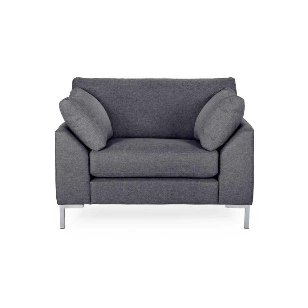 Ciemnoszary fotel Softnord Garda
