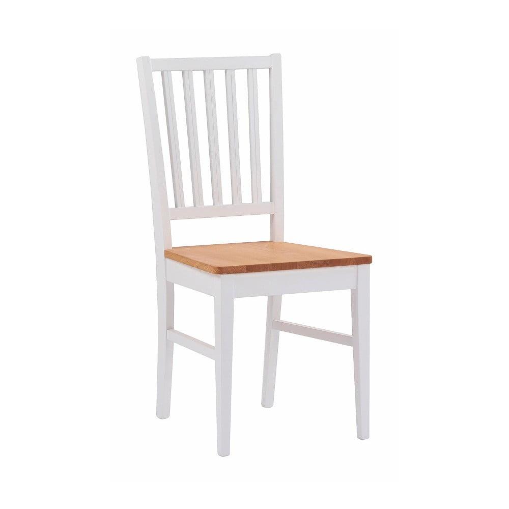Białe dębowe krzesło do jadalni Rowico Filippa