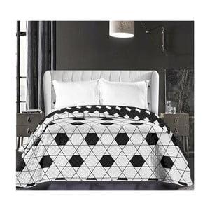 Czarno-biała narzuta dwustronna z mikrowłókna DecoKing Hypnosis Harmony, 170x210cm