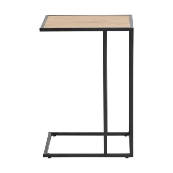 Czarno-brązowy stolik na laptopa Actona Seaford