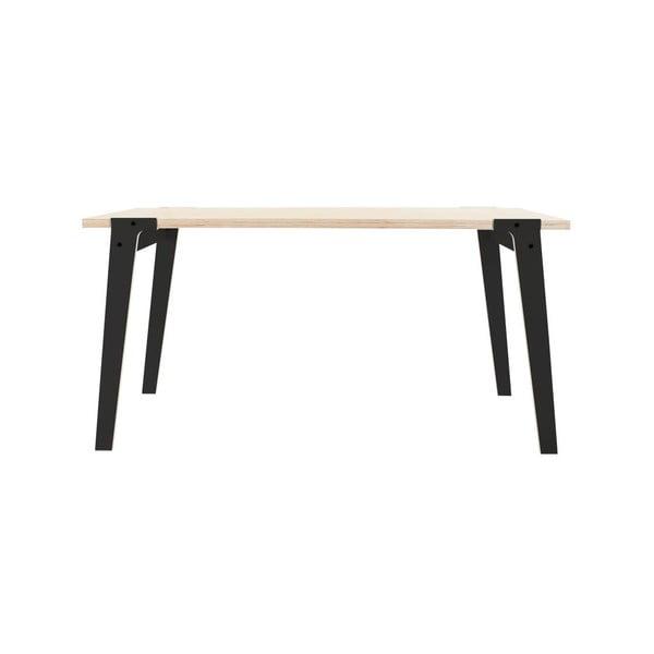 Czarny stół/biurko rform Switch, blat 150x75 cm