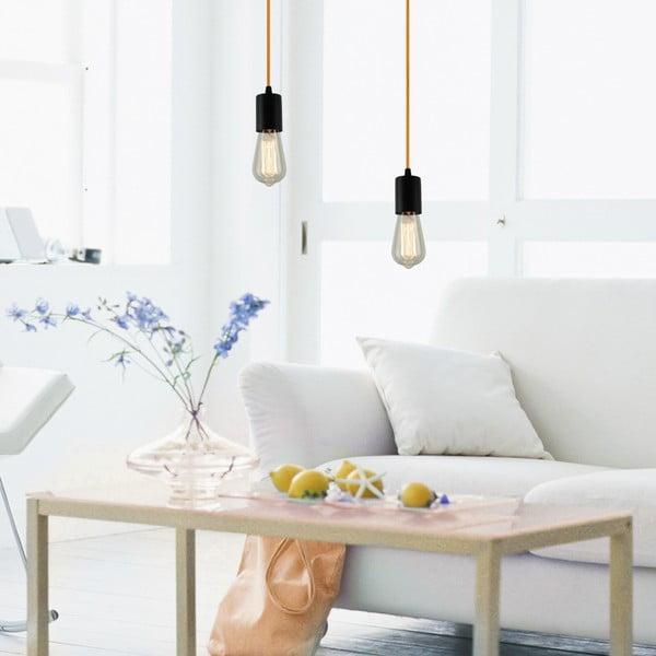 Fioletowo-czarna lampa wisząca Bulb Attack Cero