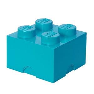 Błękitny pojemnik kwadratowy LEGO®