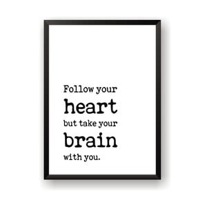 Plakat Nord & Co Follow Heart, 21x29 cm