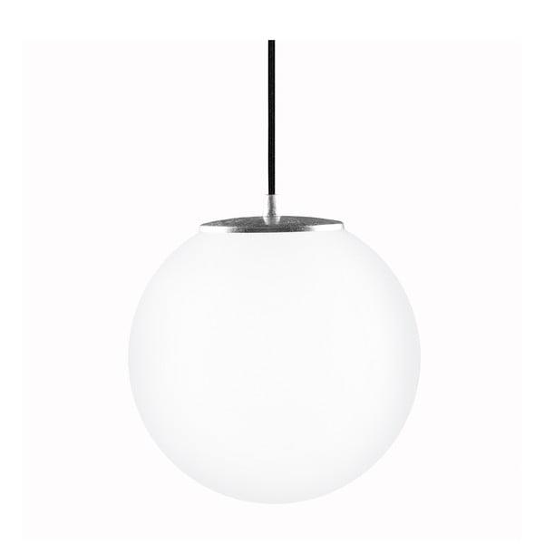 Lampa Tsuki M Elementary, mleczna matowa/srebrna/czarna /czarna, Ø25 cm