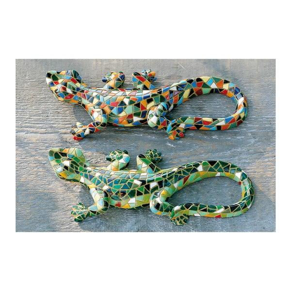 Zestaw 2 dekoracyjnych statuetek Exotic Lizards