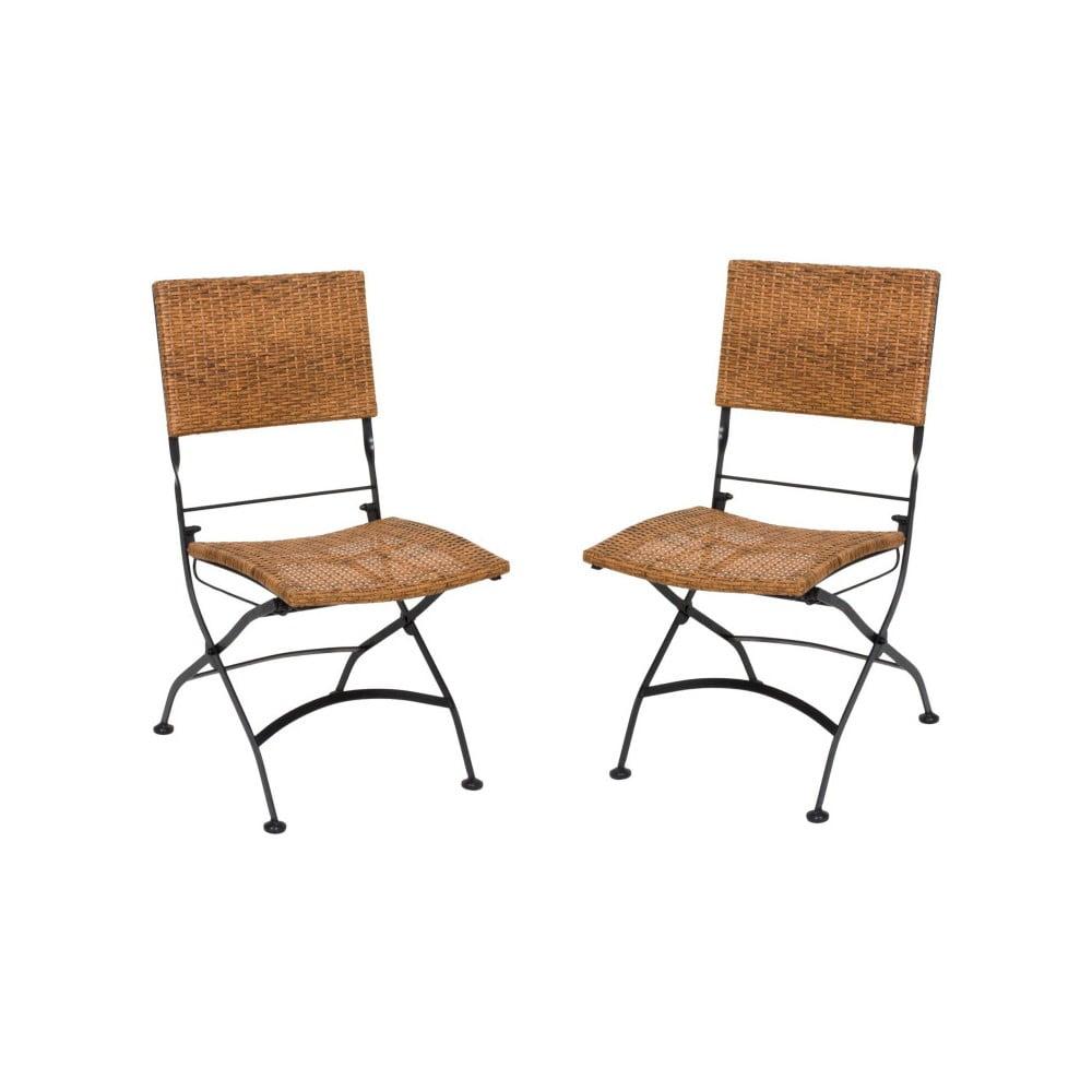 Zestaw 2 ogrodowych krzeseł składanych ADDU Graz