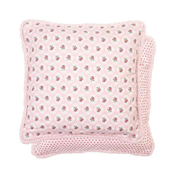 Różowa poszewka na poduszkę Clayre & Eef, 40x40 cm