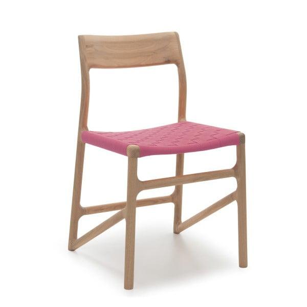 Krzesło Fawn White Pigment Gazzda, różowe