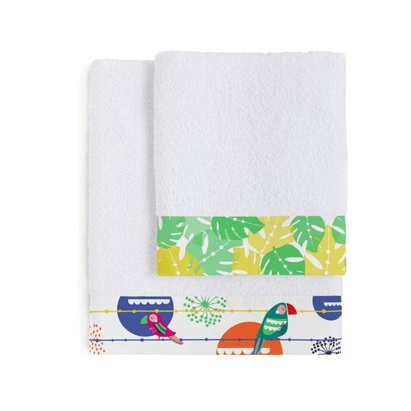 Zestaw 2 ręczników Pretty Parrots, 50x100 i 70x140 cm