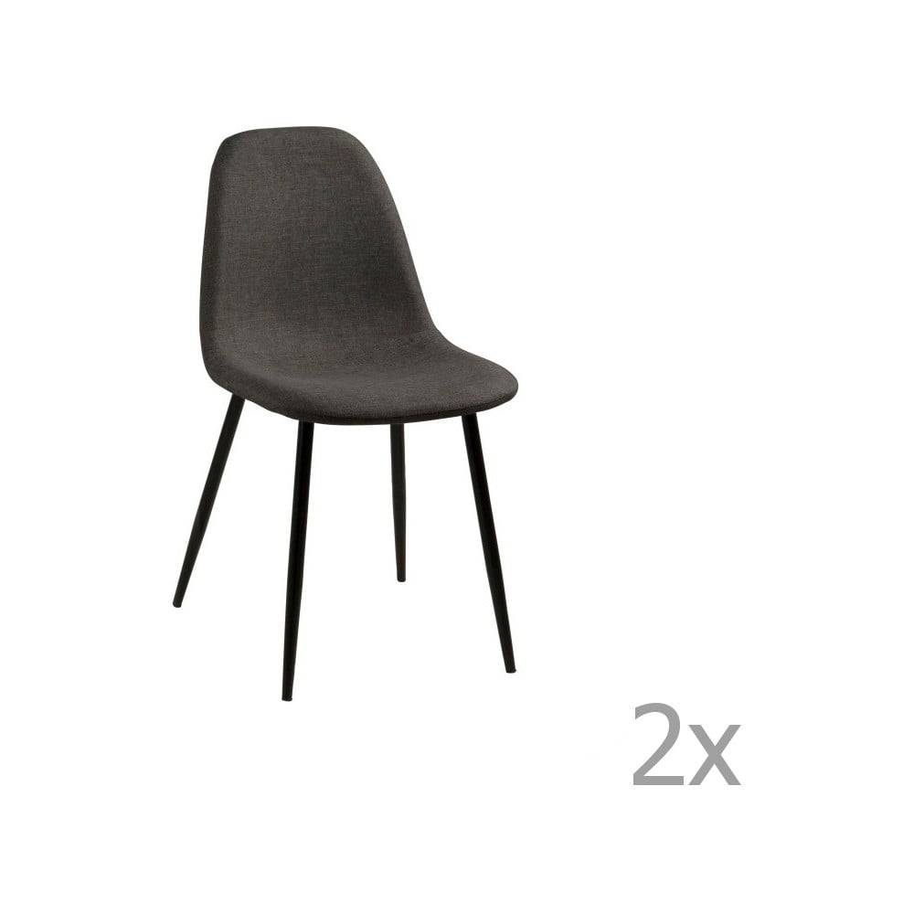 Zestaw 2 ciemnoszarych krzeseł Actona Wilma Dining Set