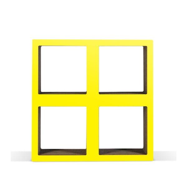 Kartonowa biblioteczka Bit Square Yellow