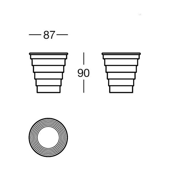 Pojemnik Chromo Glass, 8,7x9x8,7 cm