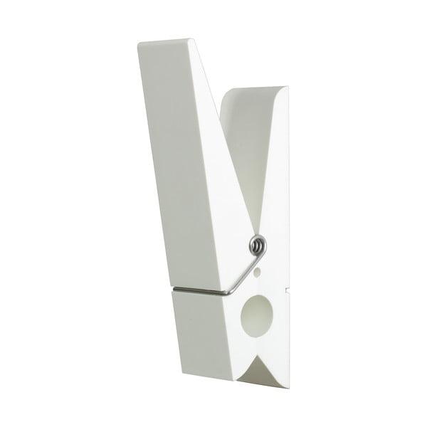 Biały wieszak w kształcie klamerki Swab