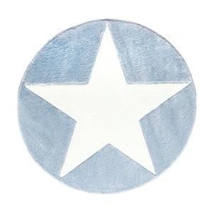 Niebieski dywan dziecięcy Happy Rugs Round, Ø 133 cm