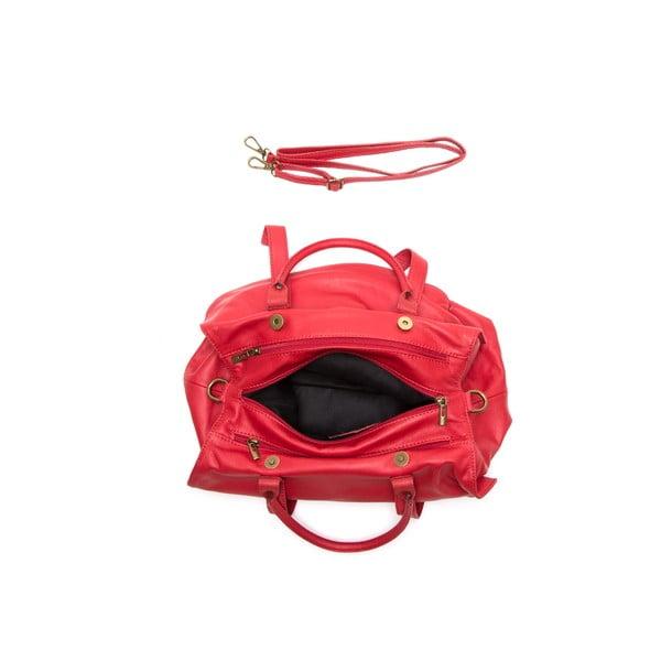 Skórzana torebka Anna Luchini 2043 Rosso