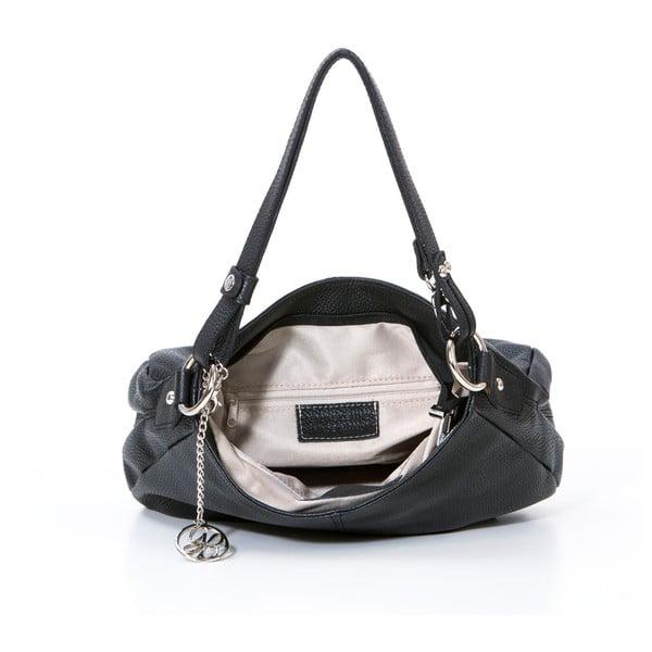 Skórzana torebka Stefano, czarna