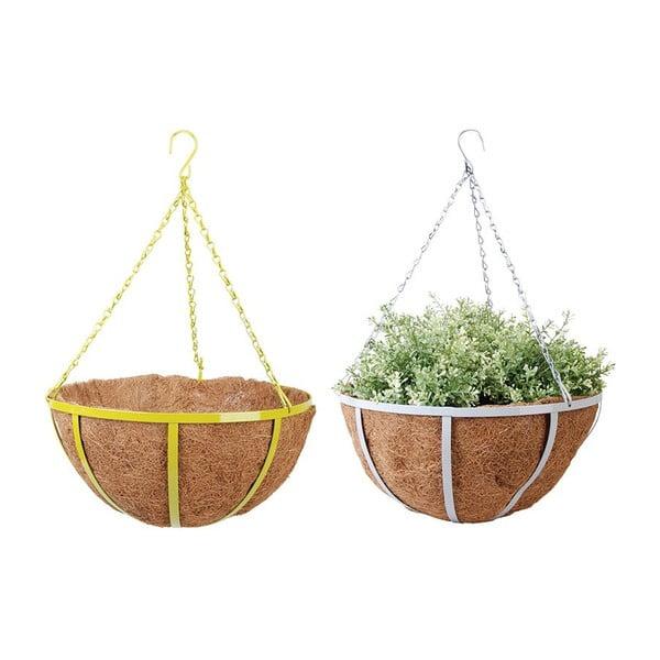 Zestaw 2 wiszących doniczek z włókna kokosowego Magic, 36 cm