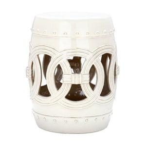 Biały stolik ceramiczny odpowiedni na zewnątrz Safavieh Ibiza