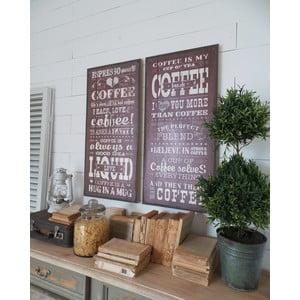 Zestaw 2 obrazów Coffee, 38x79 cm