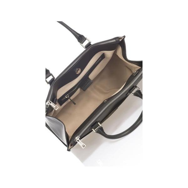 Skórzana torebka Krole Klaudie, czarna