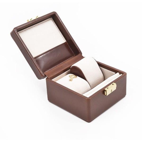 Skórzane puzdro na zegarek Ferruccio Laconi Coffee