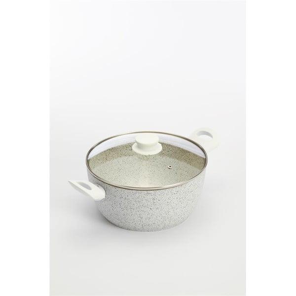 Garnek Stonewhite z przykrywką i białymi uchwytami, 4.5 l
