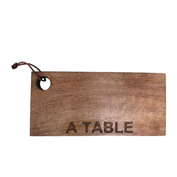 Drewniana deska A Table