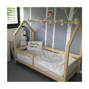 Łóżko z wysokimi nóżkami i barierkami Benlemi Tery, 120 x 200 cm, wysokość nóżek 20 cm