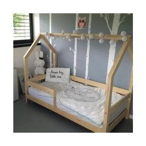 Łóżko z wysokimi nóżkami i barierkami Benlemi Tery, 100 x 200 cm, wysokość nóżek 20 cm