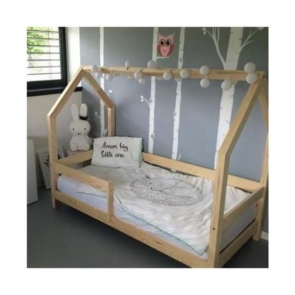 Łóżko z wysokimi nóżkami Benlemi Tery, 80x200 cm, wysokość nóżek 20 cm