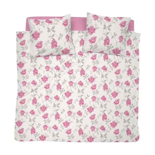 Pościel Floret Pink, 200x200 cm