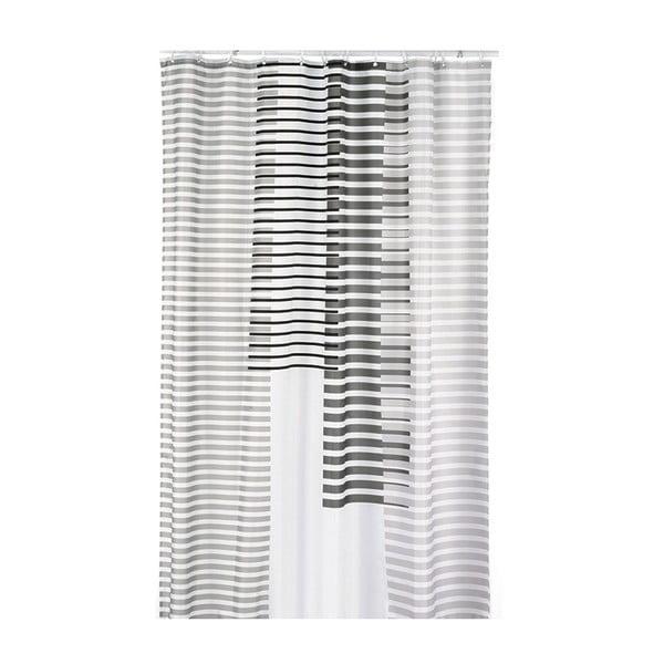 Zasłona prysznicowa Lamara, jasnoszara, 180x200 cm
