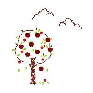 Naklejka na ścianę Mauro Ferretti Apples
