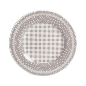 Talerzyk Grey Dots&Checks, 20.5 cm