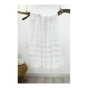 Biały ręcznik Hammam Classic Style, 100x180 cm