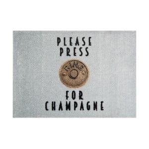 Szara wycieraczka Mint Rugs StateMat Please Press, 50x75 cm