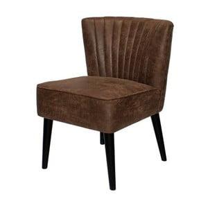 Brązowe krzesło z nogami z drewna dębowego Canett Winston