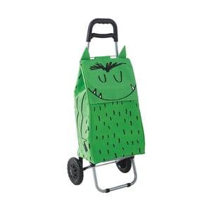 Torba na zakupy na kółkach Monster Green