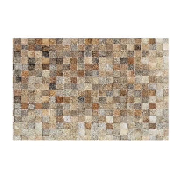 Dywan ze skóry naturalnej Sao Paulo Beige, 140x180 cm
