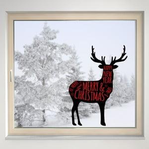 Elektrostatyczna naklejka Renifer Merry Christmas