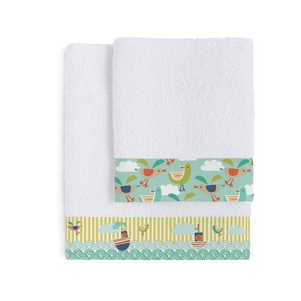Zestaw 2 ręczników Ahoy There, 50x100 i 70x140 cm
