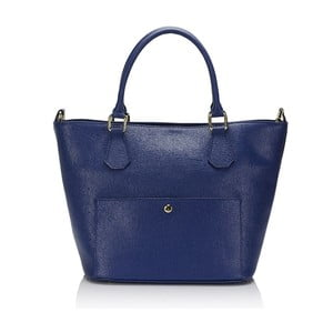 Niebieska   torebka skórzana Giulia Massari 2415 Blue