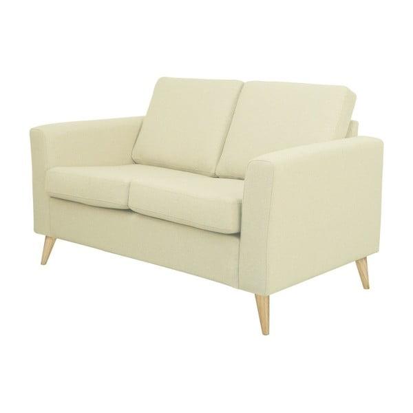 Beżowa sofa 2-osobowa z naturalnymi nogami Helga Interiors Alex
