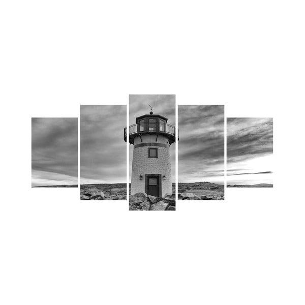Wieloczęściowy obraz Black&White no. 31, 100x50 cm