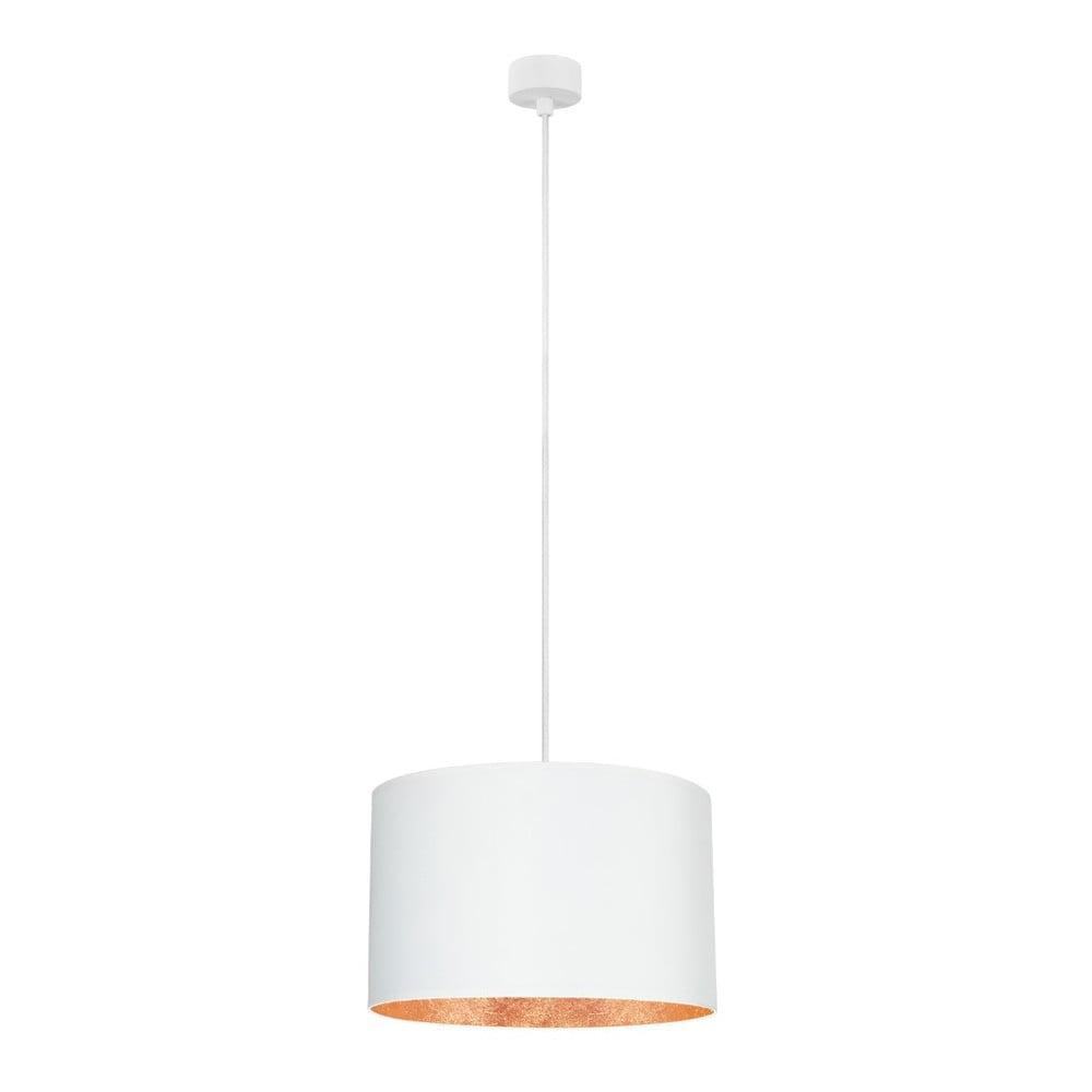Biała lampa wisząca z wnętrzem w miedzianej barwie Sotto Luce Mika, ∅36cm
